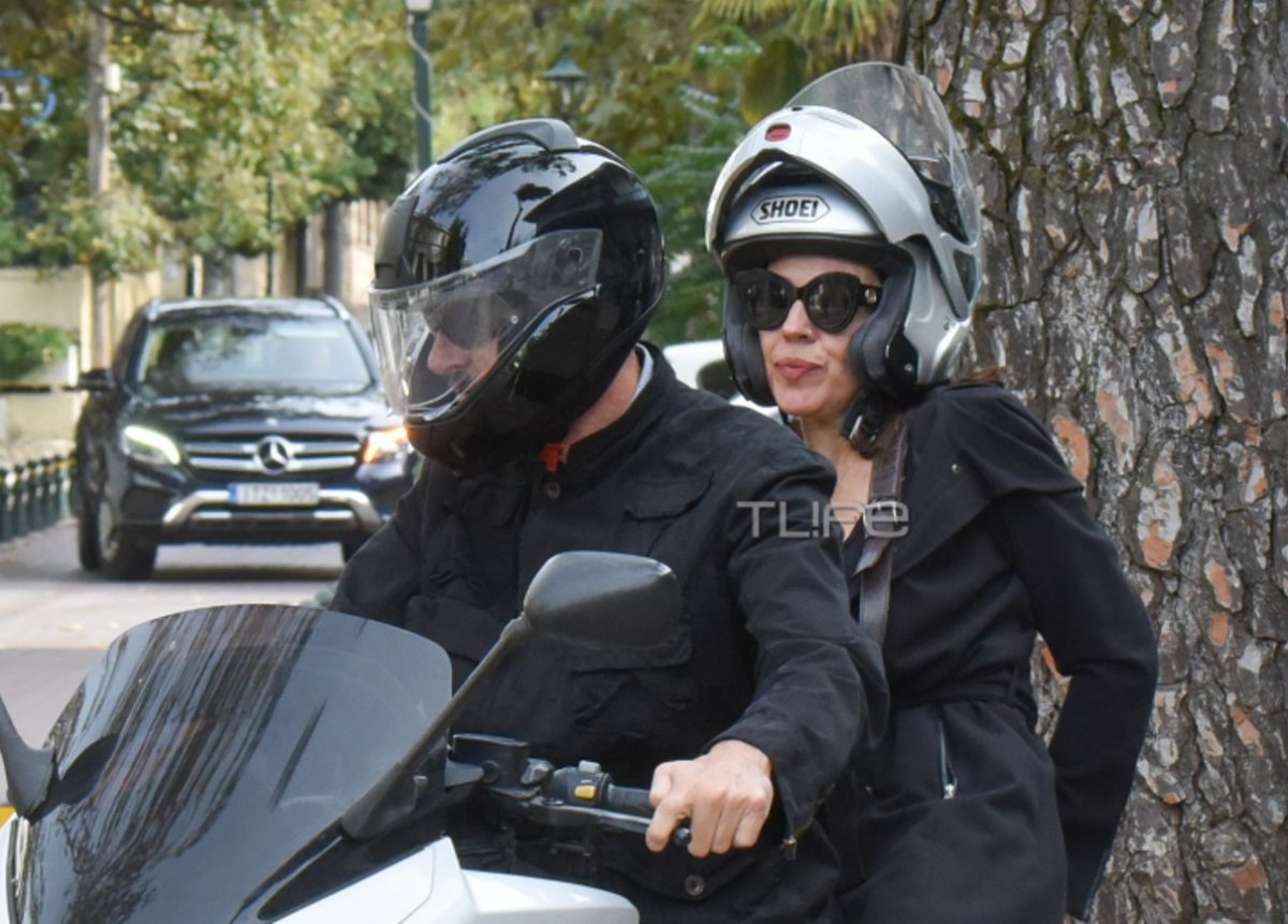 Ναταλία Δραγούμη – Έντι Ρόμπερτς: Βόλτα με τη μηχανή στην Κηφισιά για το ζευγάρι [pics] | tlife.gr