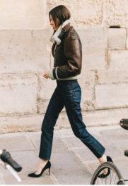 Παρίσι με shearling jacket
