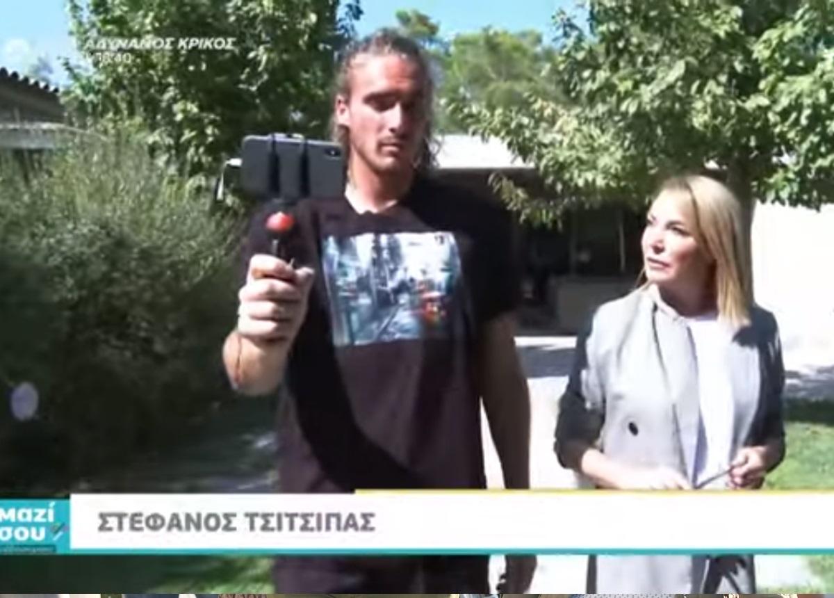 Στέφανος Τσιτσιπάς: Τι αποκάλυψε στην Τατιάνα Στεφανίδου λίγο πριν τον μεγάλο τελικό! [video]