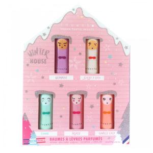 Lip Balm με 5 αρώματα σε σχήμα σπιτιού της Inuwet