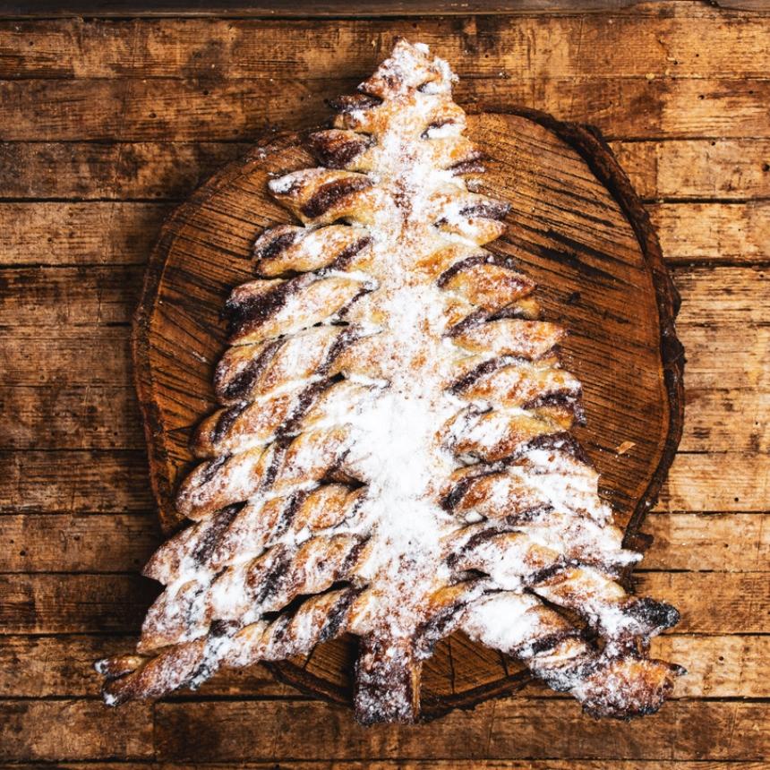 Χριστουγεννιάτικο γλυκό σοκολάτας σε σχήμα δέντρου