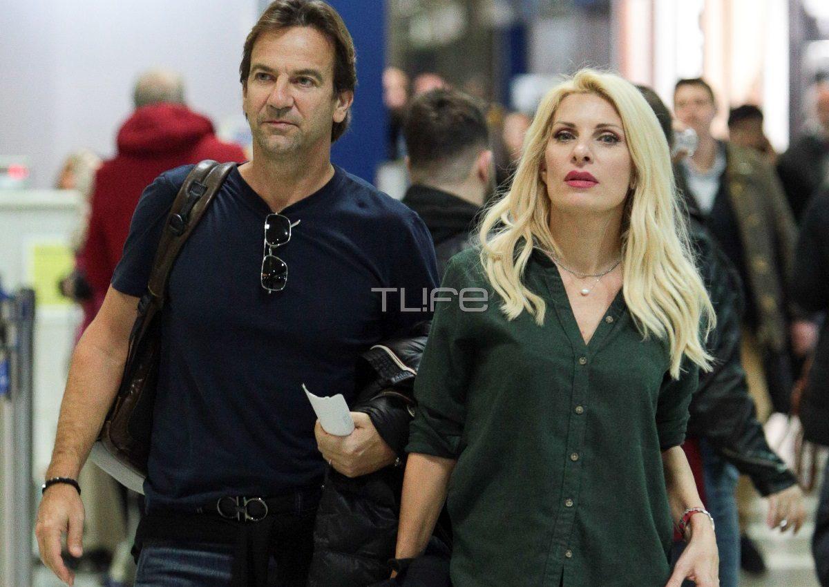 Ελένη Μενεγάκη – Μάκης Παντζόπουλος:  Μαγνήτισαν όλα τα βλέμματα στο αεροδρόμιο! [pics] | tlife.gr