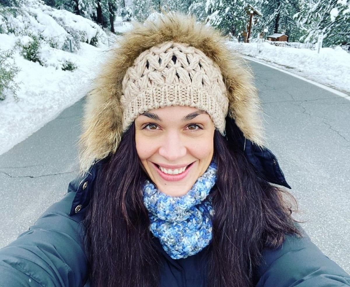 Ιωάννα Τριανταφυλλίδου: Εκδρομή στα χιόνια με τον Πάνο Βλάχο! [pics]