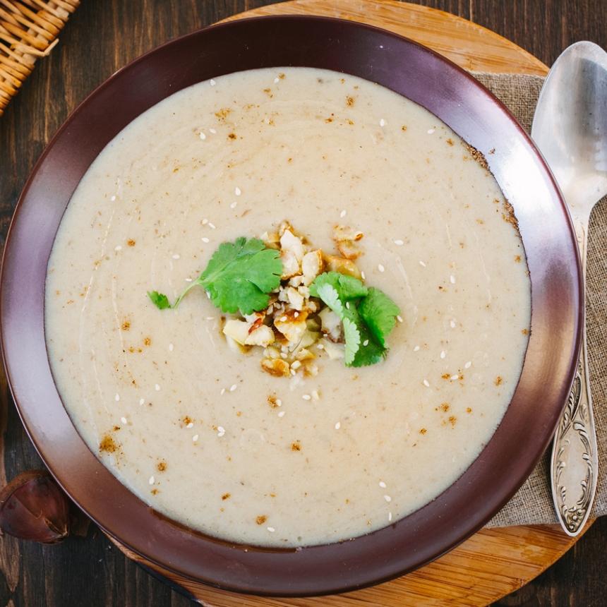 Σούπα βελουτέ με κάστανα