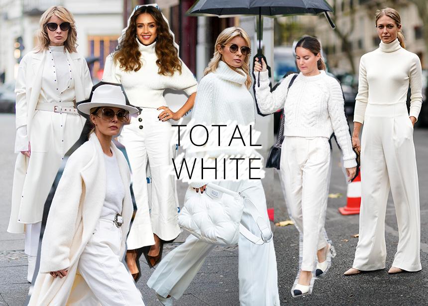 Κάνε την διαφορά φορώντας total white μέσα στον χειμώνα!
