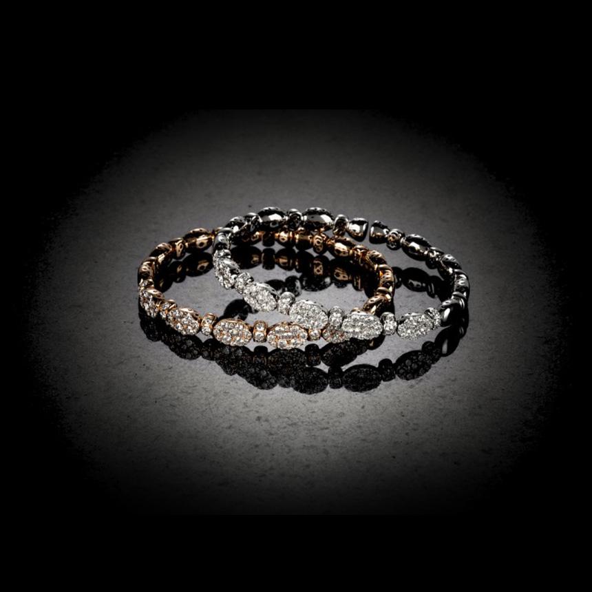 Bραχιόλια από χρυσό και διαμάντια Imanoglou | tlife.gr