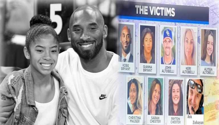 Κόμπι Μπράιαντ: Τα εννέα θύματα της τραγωδίας – Ποιοι ήταν μαζί του στο μοιραίο ελικόπτερο