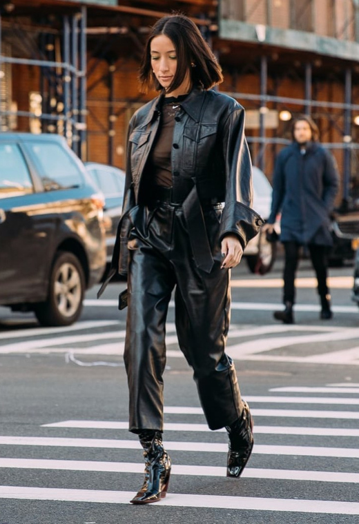 Nέα Υόρκη με total leather look