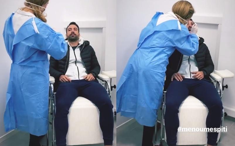Σάκης Τανιμανίδης: Η στιγμή που κάνει εξέταση για κορονοϊό [video] | tlife.gr