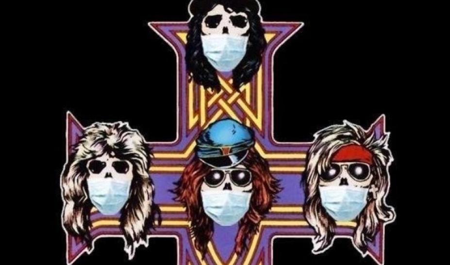 Οι Guns N' Roses με μάσκες για τον κορονοϊό   tlife.gr