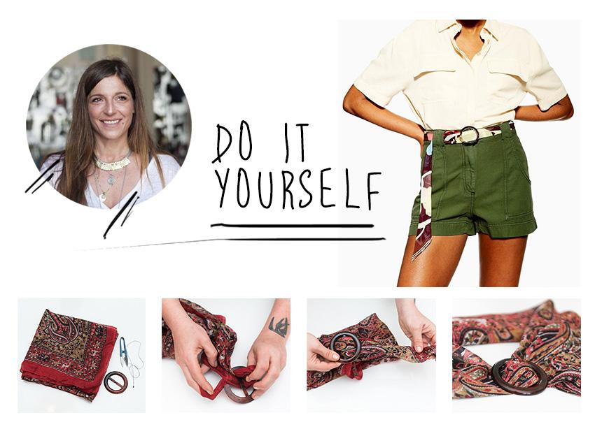 DIY: Φτιάξε μόνη σου μία στιλάτη ζώνη από το παλιό σου φουλάρι! | tlife.gr
