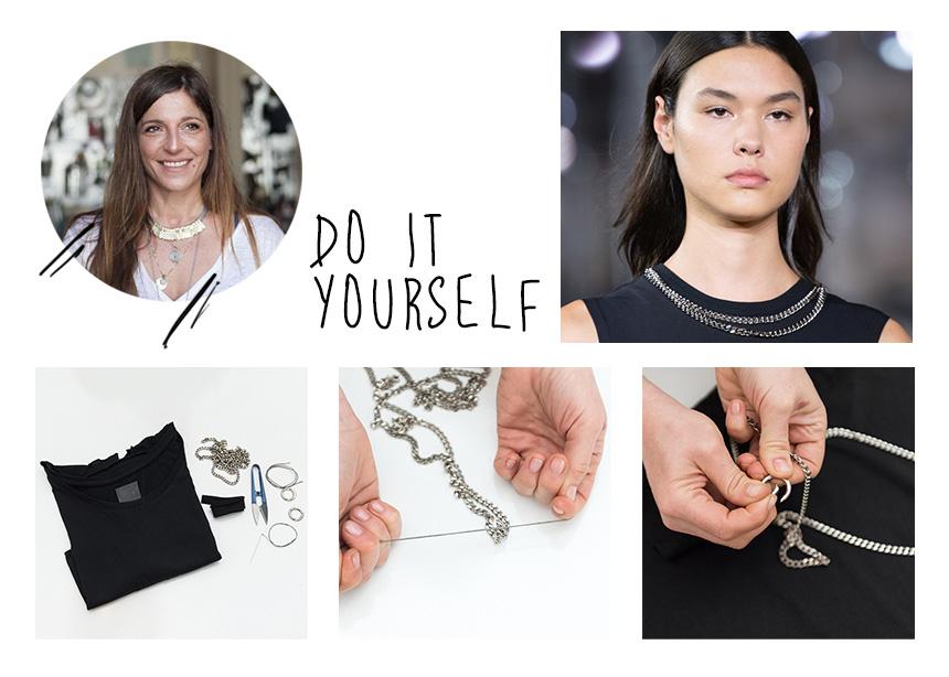DIY: Πώς θα μετατρέψεις μόνη σου ένα παλιό t-shirt σε stylish top με αλυσίδα! | tlife.gr