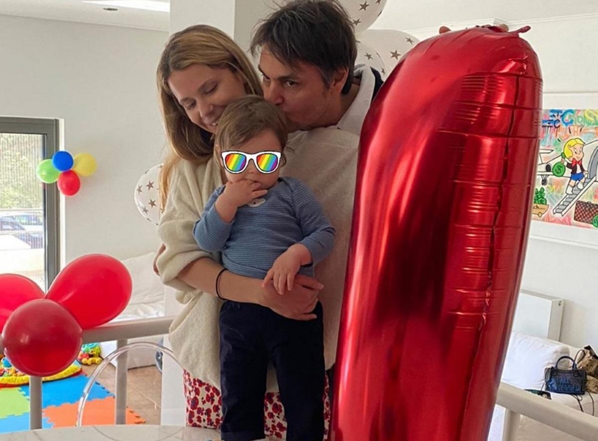Νίκος Κριθαριώτης – Ναστάζια Δαρίβα: Το πρώτο πάρτι γενεθλίων του μονάκριβου γιου τους! [pics]