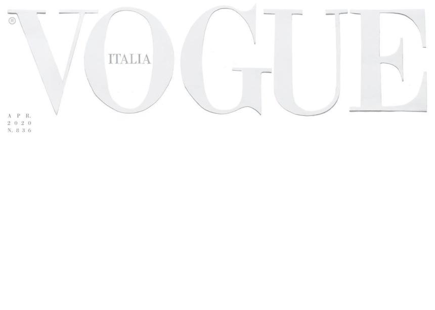 Η ιταλική Vogue γράφει ιστορία! Κυκλοφορεί με ένα λευκό εξώφυλλο!
