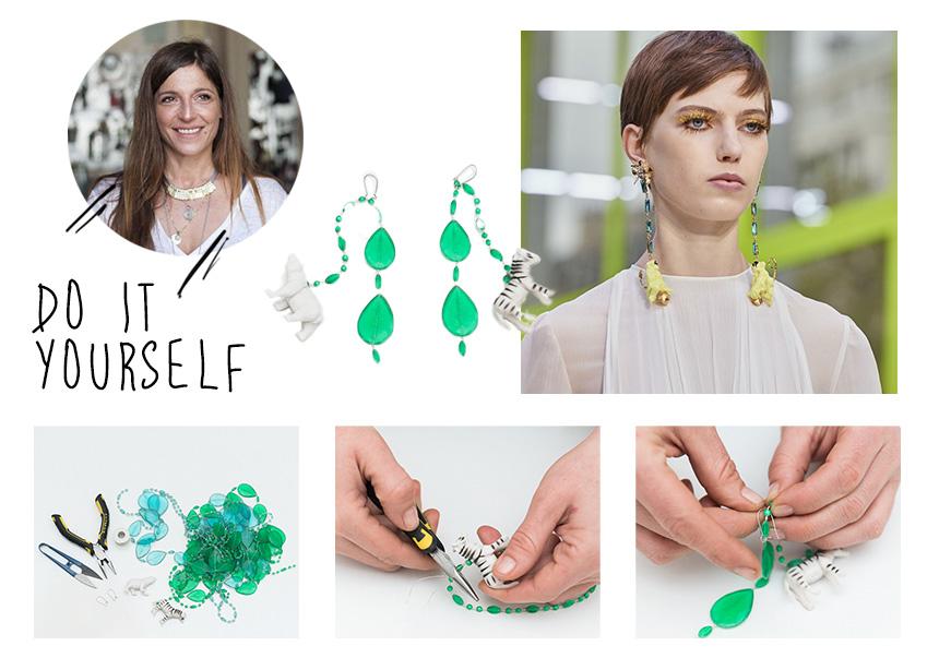 Φτιάξε μόνη σου τα σκουλαρίκια που είδαμε στο show του Valentino