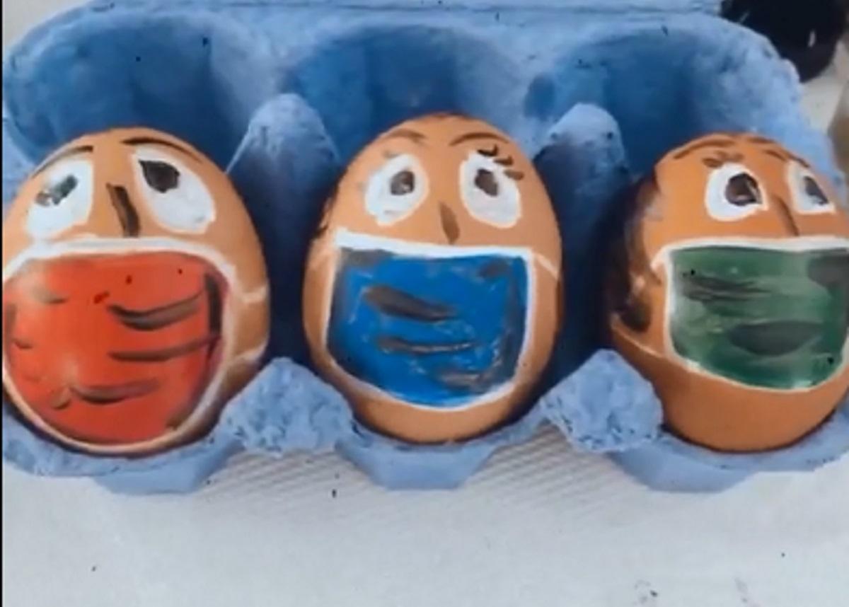 Απίστευτο! Ελληνίδα ηθοποιός έβαψε έτσι τα αυγά της [video]