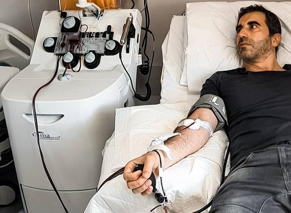 Μίλτος Καμπουρίδης: Έδωσε πλάσμα με αντισώματα του covid 19 για θεραπεία συμβατού ασθενούς! Φωτογραφίες