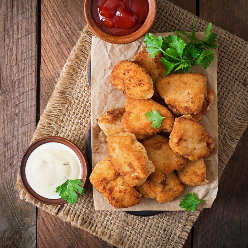 Συνταγή για σπιτικές μπουκίτσες κοτόπουλου