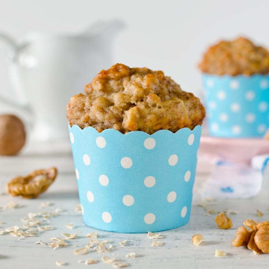 Συνταγή για muffins μπανάνα με ξηρούς καρπούς