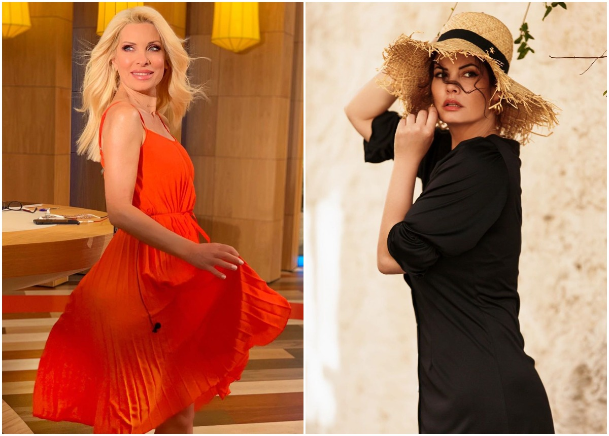 Η Μαρία Κορινθίου κέρδισε σε giveaway το φόρεμα που έδινε η Ελένη Μενεγάκη!