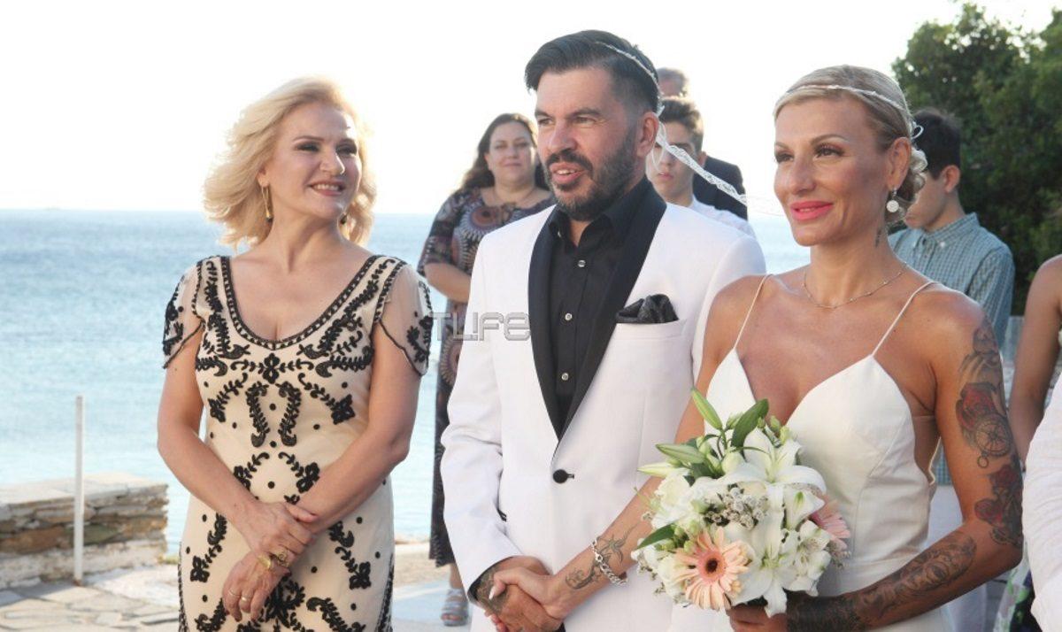 Μπέσυ Μάλφα: Κουμπάρα στον γάμο του Μάκη Καπάτου και της Εύας Λεούση στην Άνδρο! Φωτογραφίες | tlife.gr