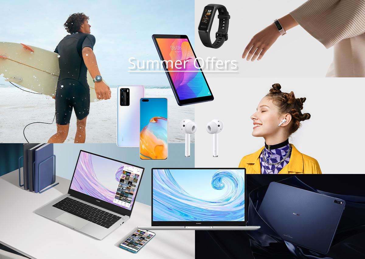 Τι θέλεις; Smartphone, laptop, tablet, ασύρματα ακουστικά; Οι καλοκαιρινές προσφορές της Huawei είναι αυτό ακριβώς που χρειάζεσαι!