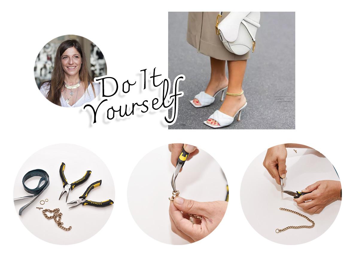 DIY: Φτιάξε μόνη σου ένα στιλάτο anklet για το πόδι!