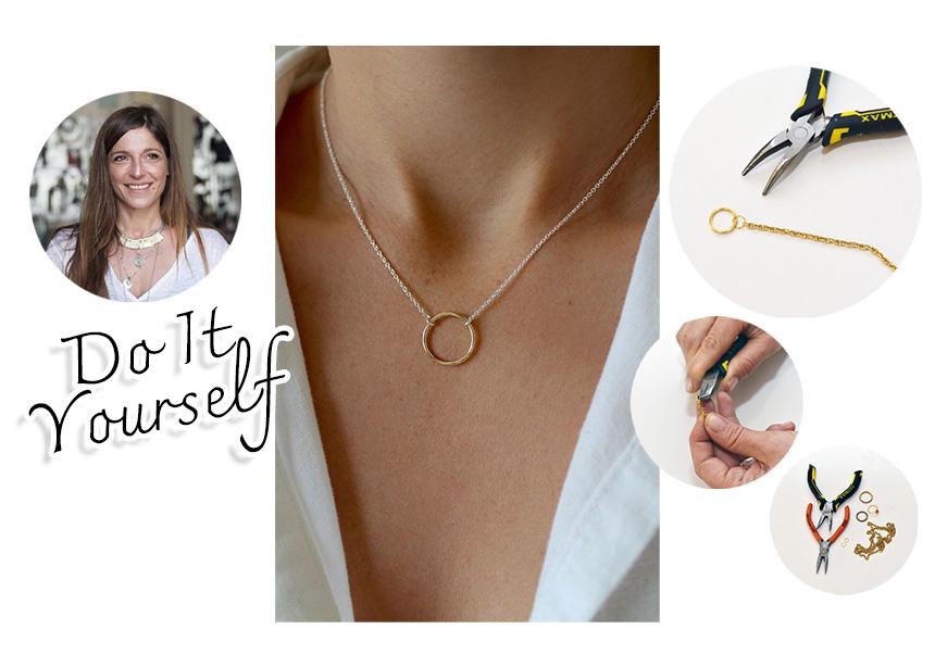 DIY: Φτιάξε μόνη σου ένα στιλάτο κολιέ με δαχτυλίδι | tlife.gr
