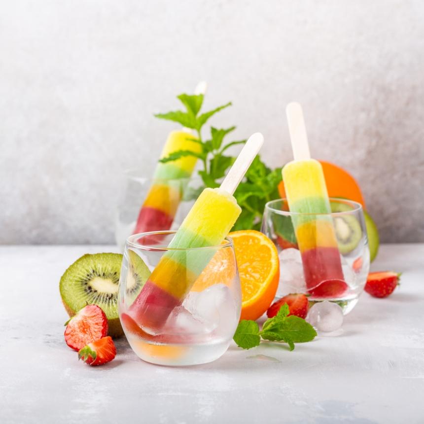 Συνταγή για γρανίτες με μάνγκο, ακτινίδιο και φράουλα