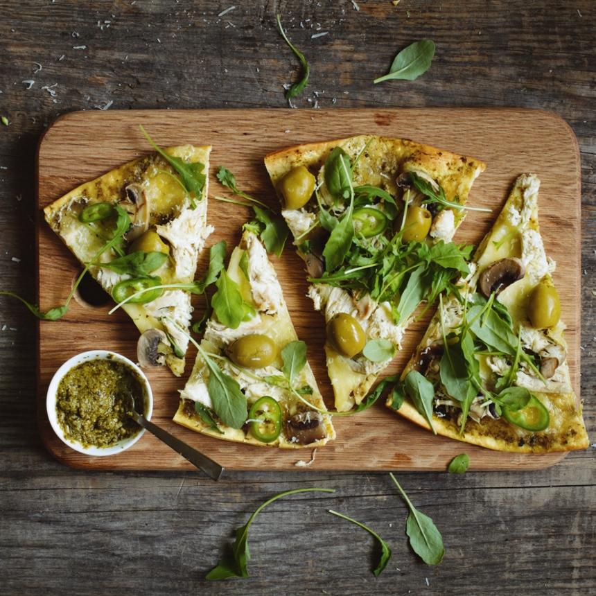Συνταγή για μεσογειακή πίτσα