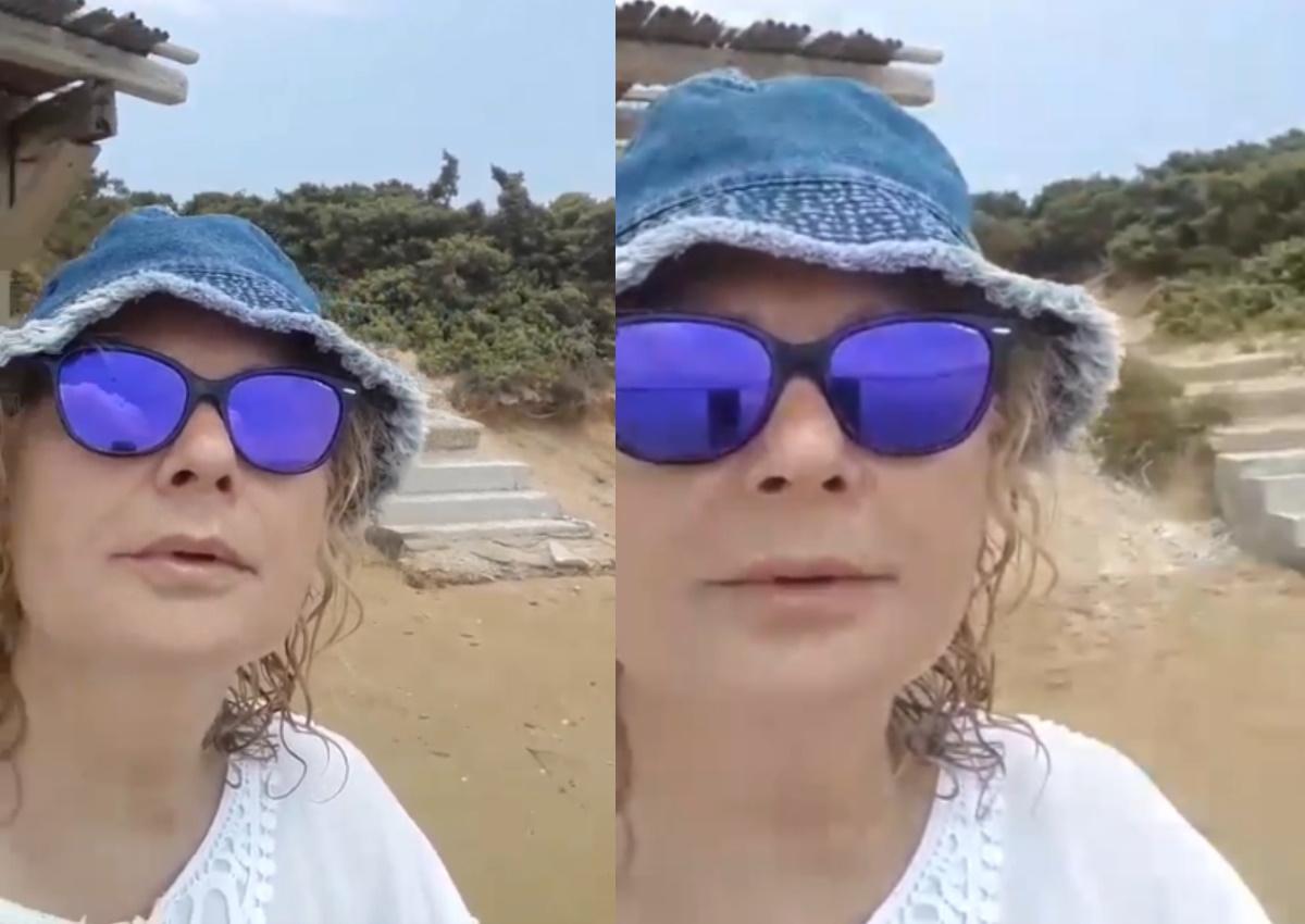 Αγγελική Νικολούλη: Άβαφη και με καλοκαιρινό look απολαμβάνει τις διακοπές της! [video]