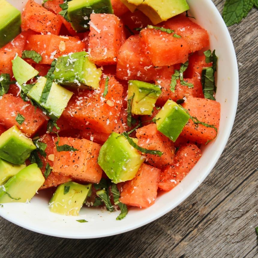 Συνταγή για σαλάτα με καρπούζι και αβοκάντο