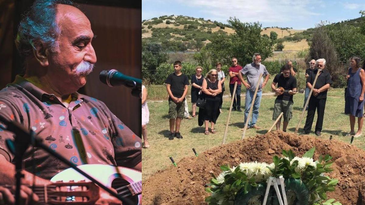 Συγκίνηση στην κηδεία του Αγάθωνα – Τον αποχαιρέτησαν με ρεμπέτικα και μπαγλαμά