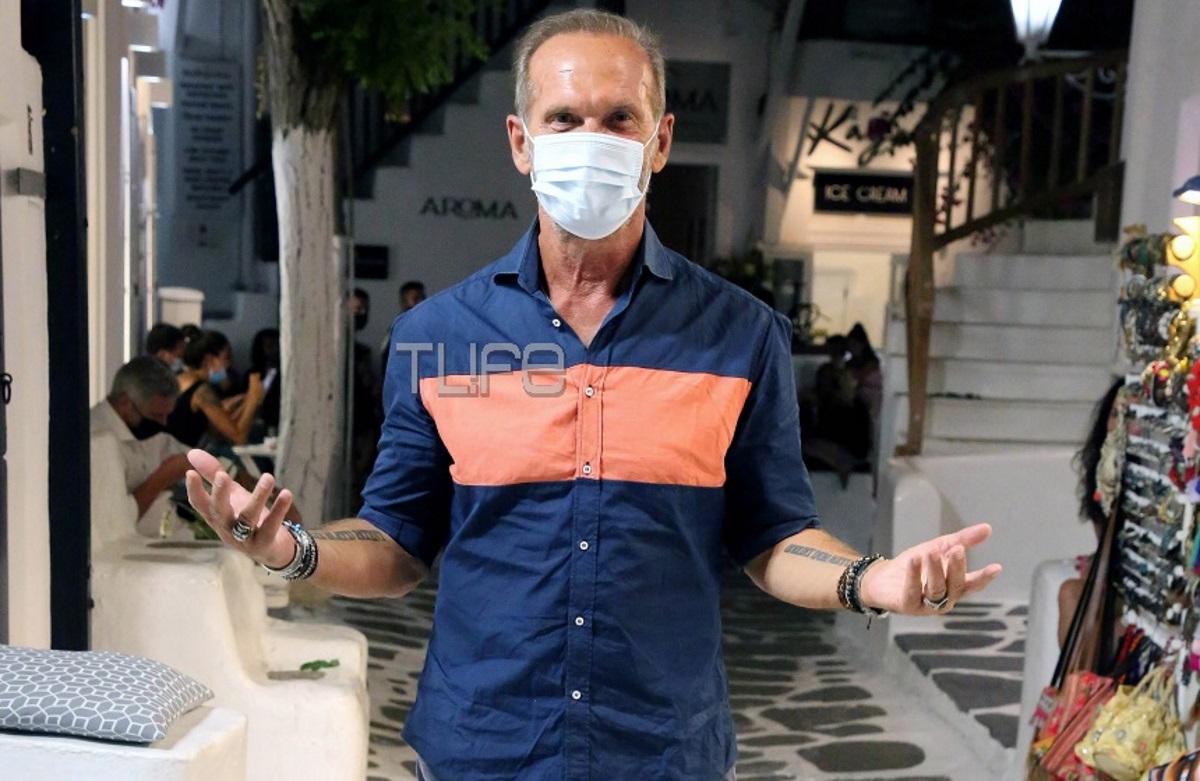Πέτρος Κωστόπουλος: Τηρεί τα μέτρα προστασίας στην Μύκονο! Φωτογραφίες