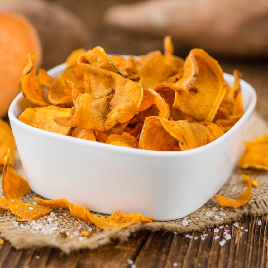 Συνταγή για τραγανά chips γλυκοπατάτας στο φούρνο