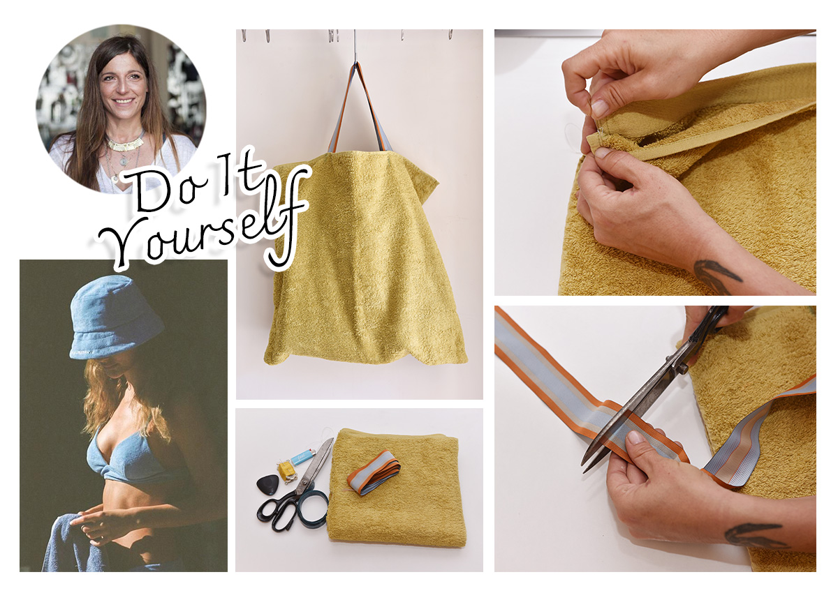DIY: Φτιάξε μόνη σου μία στιλάτη τσάντα παραλίας από μία πετσέτα