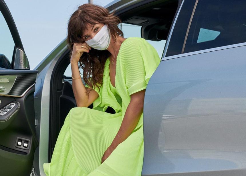 Το πρώτο editorial όπου το μοντέλο φοράει μάσκα σε όλες της λήψεις!
