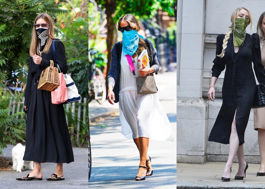 Oι διάσημες επιλέγουν στιλάτα μαντήλια αντί για μάσκα