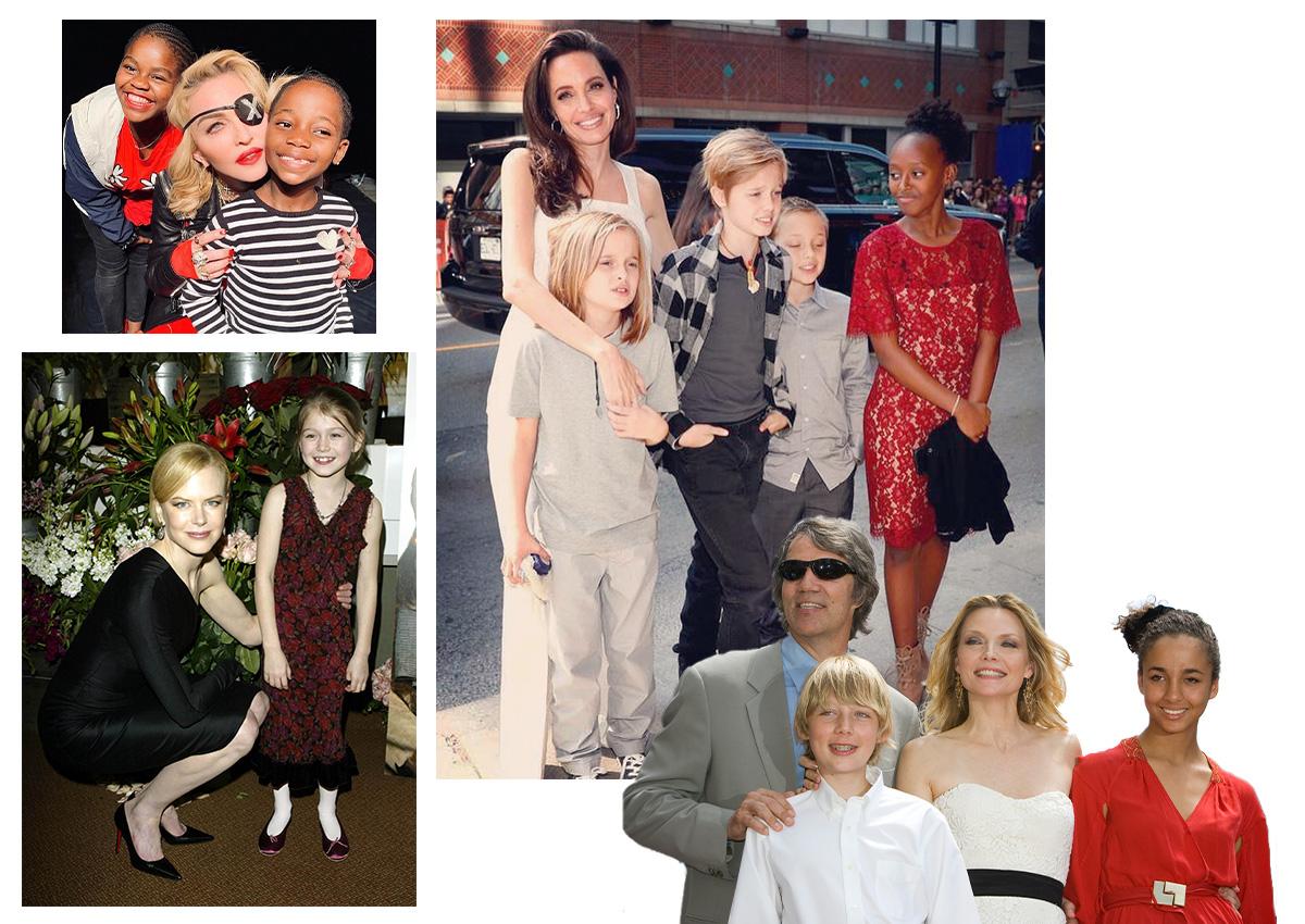 """Οι διάσημες μαμάδες που υιοθέτησαν και """"γέμισαν"""" την οικογένεια τους με αγάπη"""