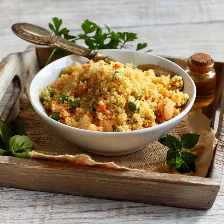 Συνταγή για σαλάτα με κους – κους και γαρίδες