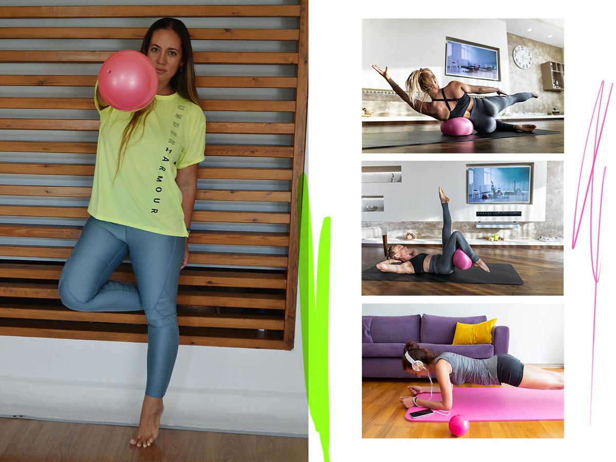 Ώρα για γυμναστική! Ασκήσεις για όλο το σώμα με τη βοήθεια μίας μπάλας από την Μάντη Περσάκη