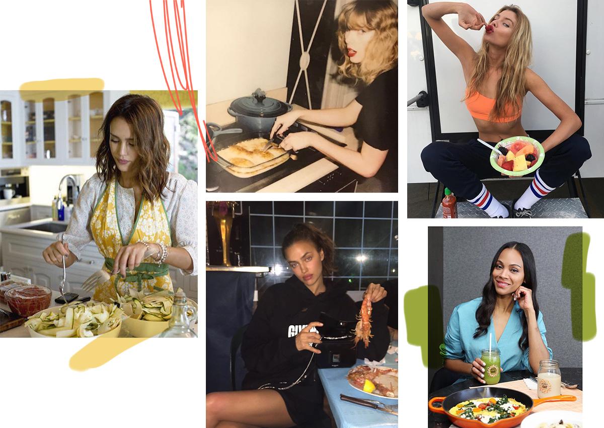 8 καλλίγραμμες διάσημες σου δίνουν ιδέες για το βραδινό σου γεύμα