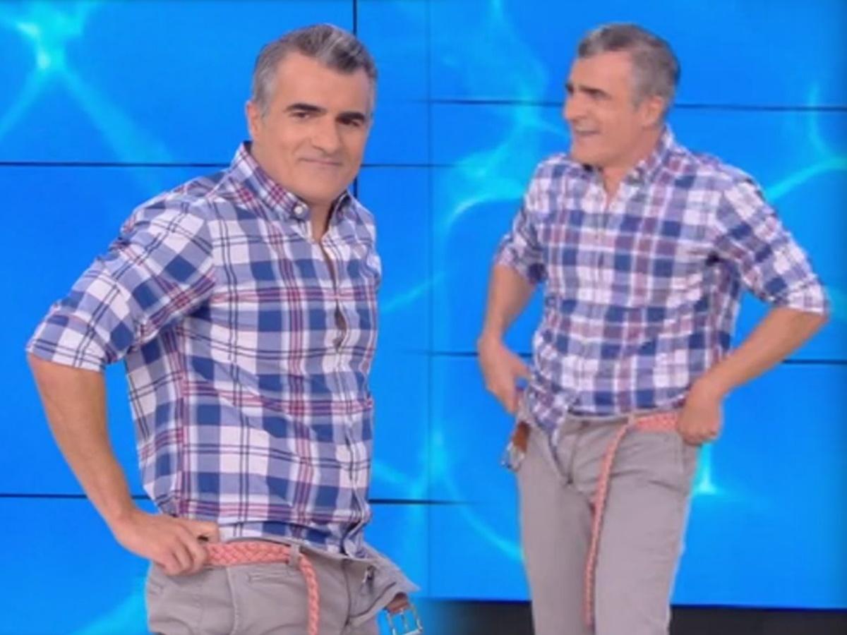 """Παύλος Σταματόπουλος: Κατέβασε το παντελόνι του στον αέρα του """"Έλα, Χαμογέλα"""" – Δες πώς αντέδρασε η Σίσσυ Χρηστίδου (video)"""