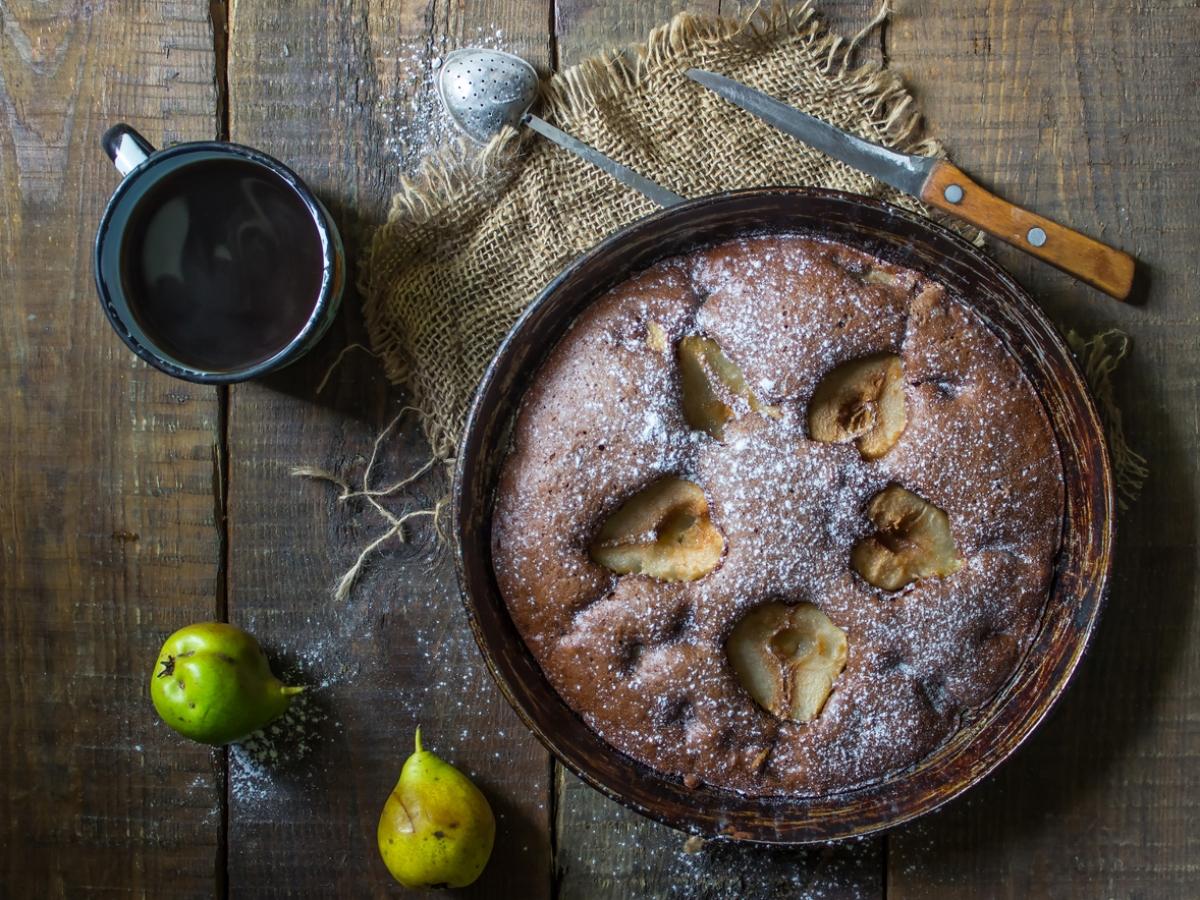 Συνταγή για κέικ σοκολάτας με αχλάδι