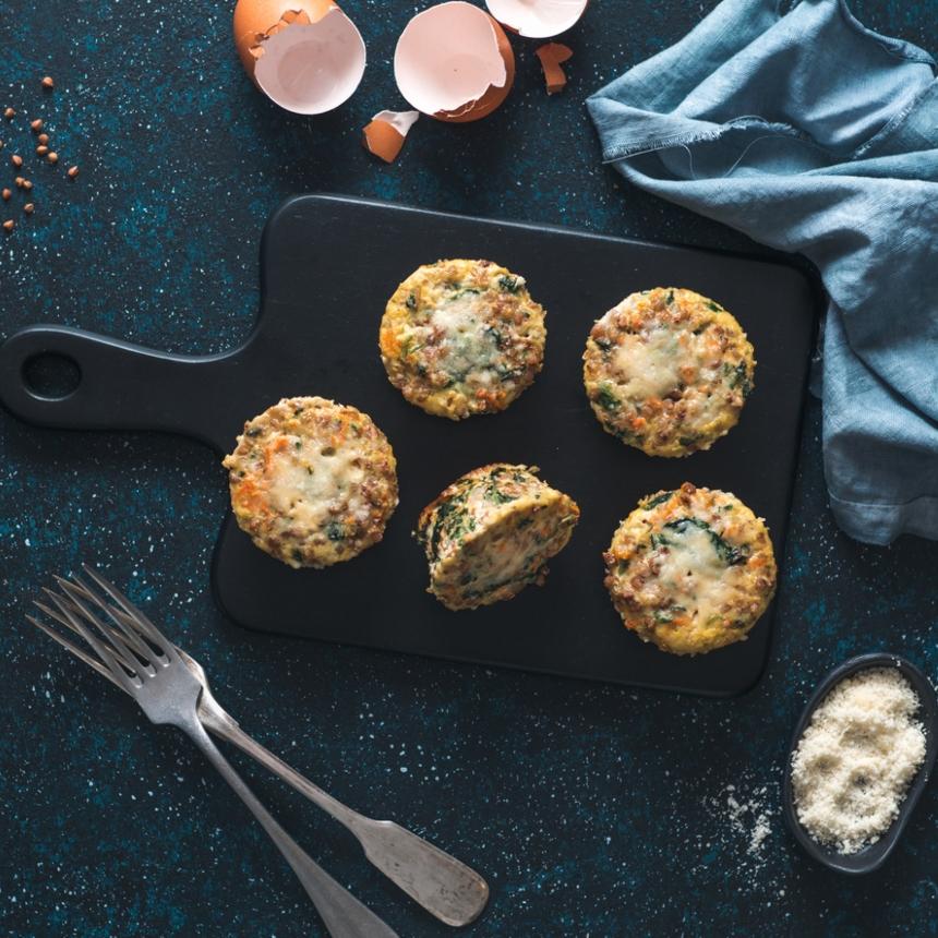 Συνταγή για μάφιν αβγού με μπέικον
