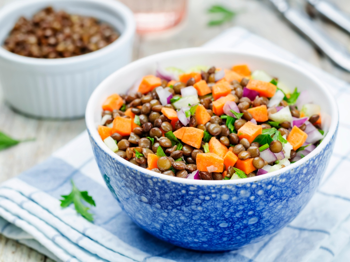 Συνταγή για σαλάτα με φακές και καρότα