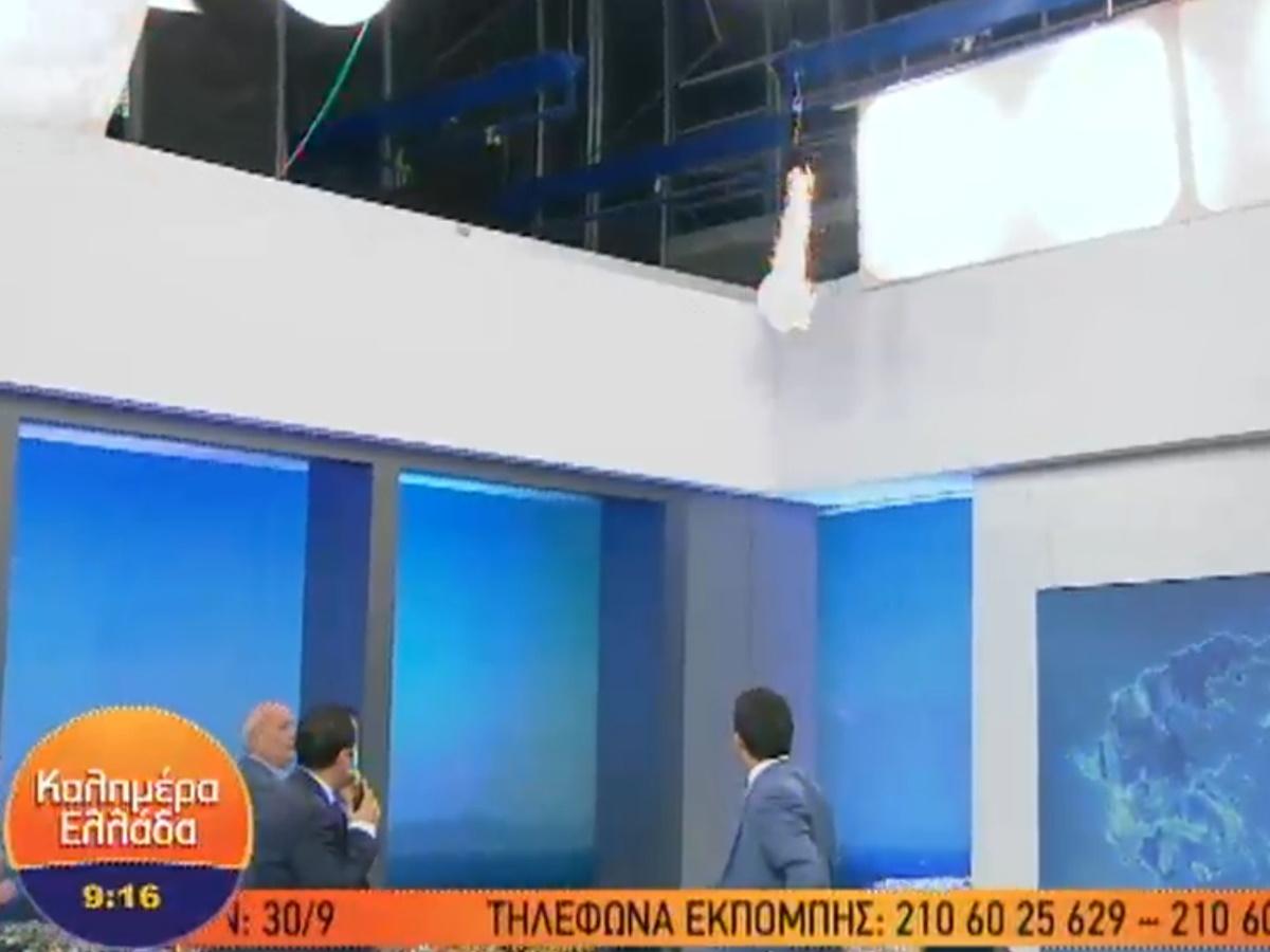 """Φωτιά on air στο πλατό του """"Καλημέρα Ελλάδα"""" – Ο Γιώργος Παπαδάκης σε ρόλο.. πυροσβέστη (video)"""