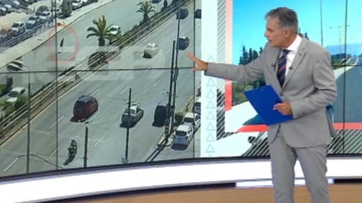 """Σοκαριστικές εικόνες στο """"Live news"""" από όχημα που παρασέρνει πεζό στη λεωφόρο Συγγρού"""
