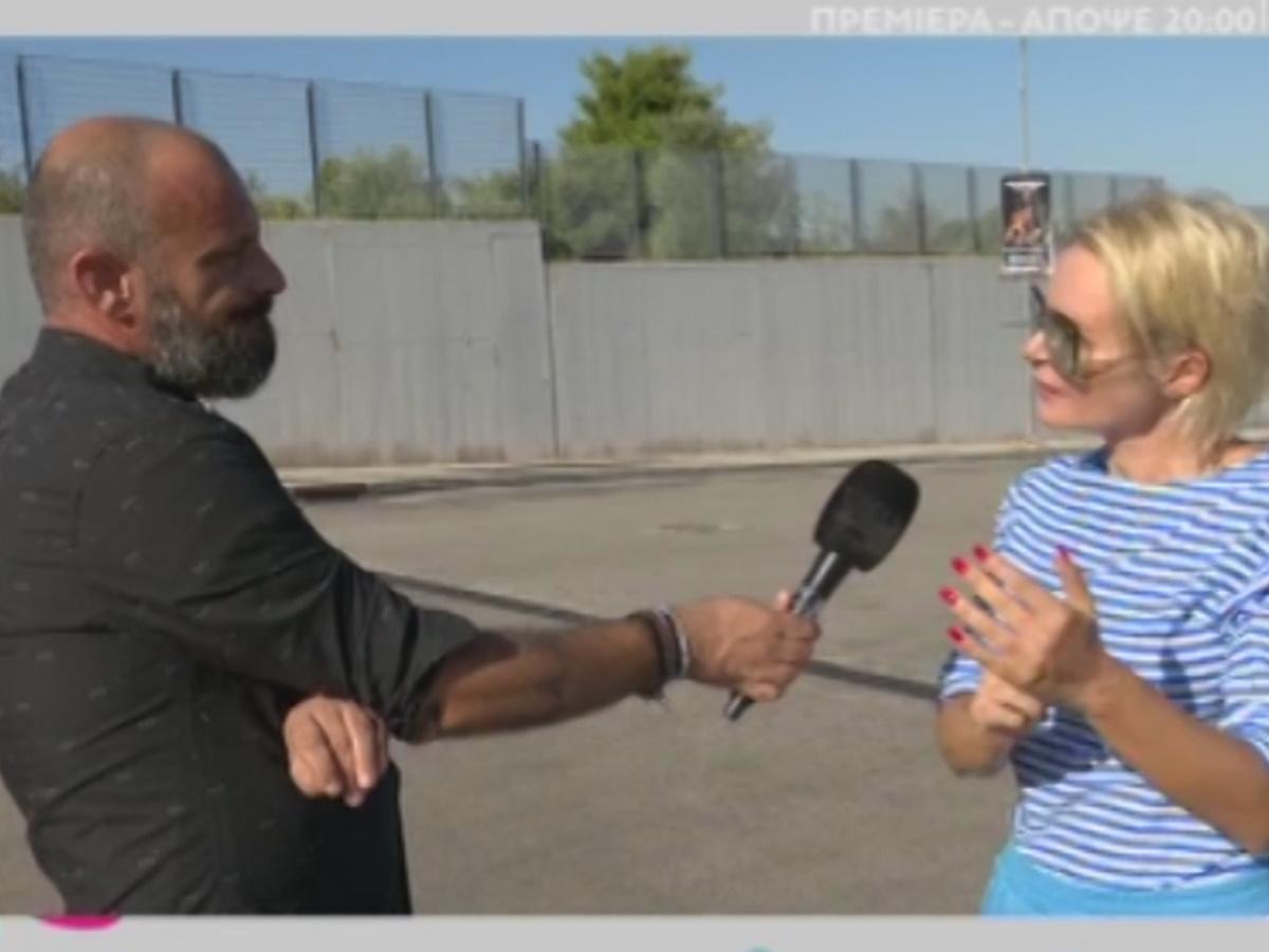 """Η Έλενα Χριστοπούλου για τη φωτογράφιση που έκανε ο Δημήτρης Σκουλός δίπλα σε άστεγο – """"Ήταν στη λάθος στιγμή τη λάθος ώρα"""" (video)"""