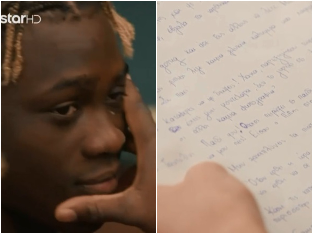GNTM: Το γράμμα της Ίριδας έκανε τον Εμμάνουελ να ξεσπάσει σε κλάματα – Τι συνέβη; (βίντεο)